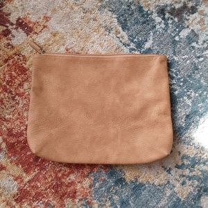 Free people brown leather clutch or case